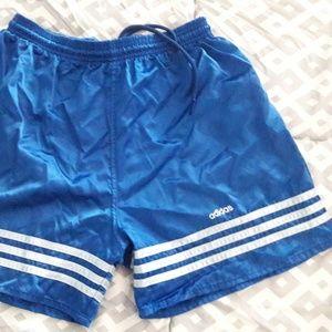 Adidas Nylon Satin Shorts Sz. M Shiny Silky Soccer
